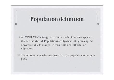 Opulous Meaning Population Genetics Aqa