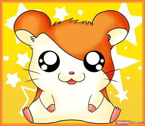 draw hamtaro step step cartoon network characters cartoons draw cartoon characters
