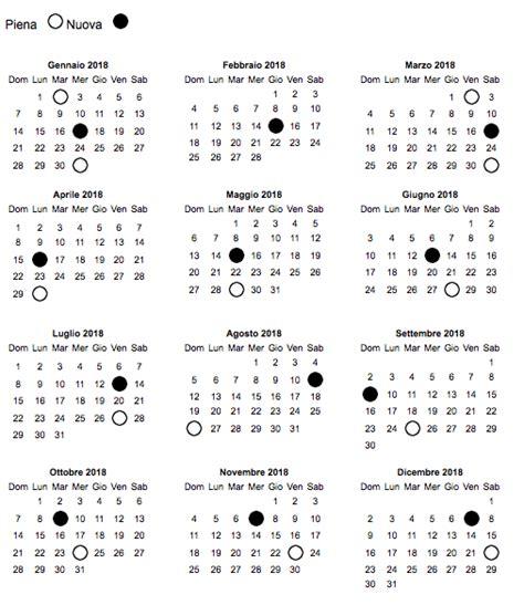 Calendario 2018 Festivit Calendario Fasi Lunari 2018 28 Images Calendario 2018
