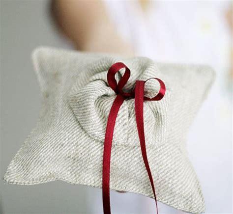 Handmade Ring Bearer Pillow - dapperlads handmade organic linen ring bearer