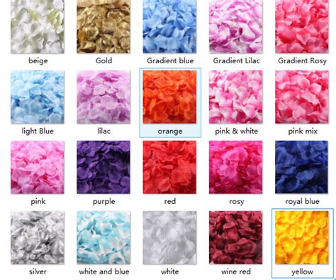 petal color aliexpress buy dressv 1500 pcs wedding petals silk