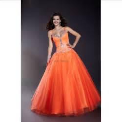 Ball gown strap beading orange taffeta long prom dress thisnext