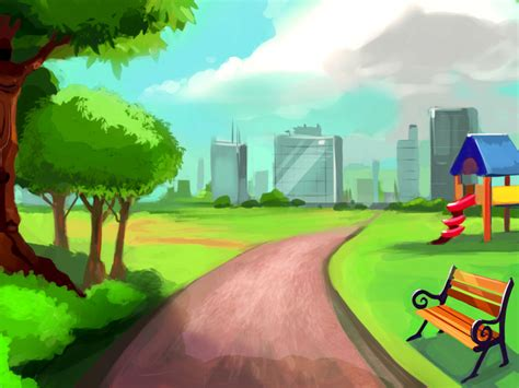 wallpaper cartoon videogames game background the park by amazingtrout on deviantart