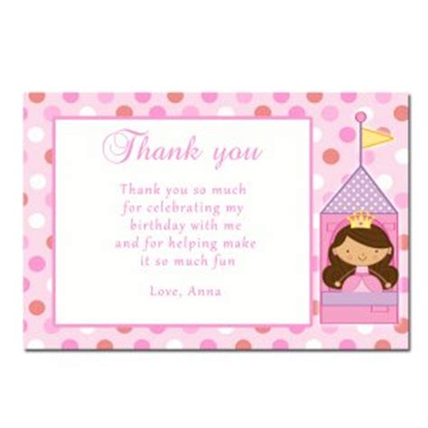 1st Birthday Thank You Card Free Template by Printable Princess Thank You Cards Notes Birthday