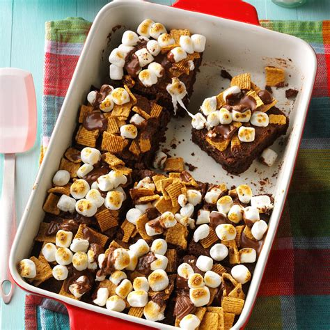 day cooking ideas fudgy s mores brownies recipe taste of home
