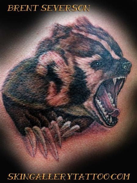 skin gallery tattoo tattoos realistic wisconsin badger