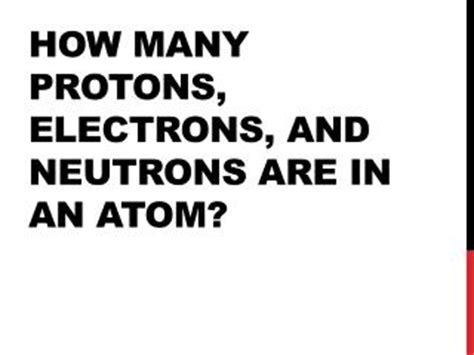 how many protons are in an atom of fluorine ppt how to find the number of protons neutrons