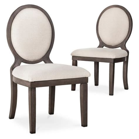 Oval Dining Chair by Morris Oval Back Dining Chair Wood Set Of 2 Target