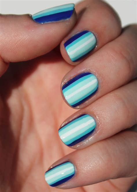 easy nail art stripes fundamentally flawless blue ombre stripes nail art tutorial