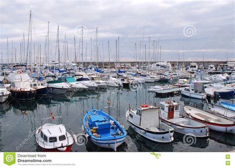 boat lot lots of boats in the harbour royalty free stock