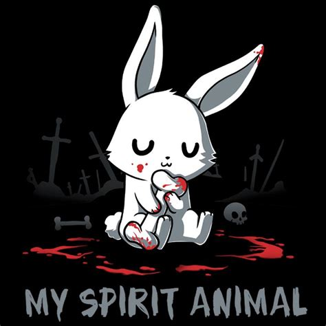 my spirit animal killer bunny funny cute amp nerdy