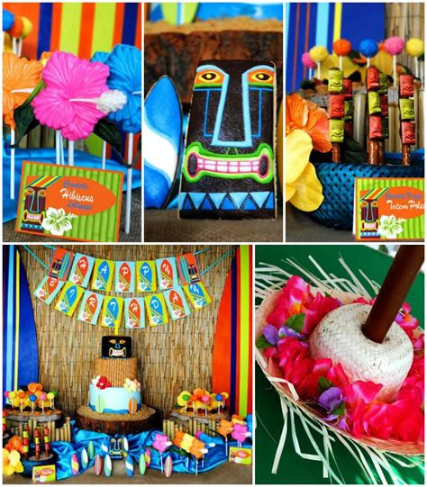 party themes luau tiki luau summer beach swim party planning ideas