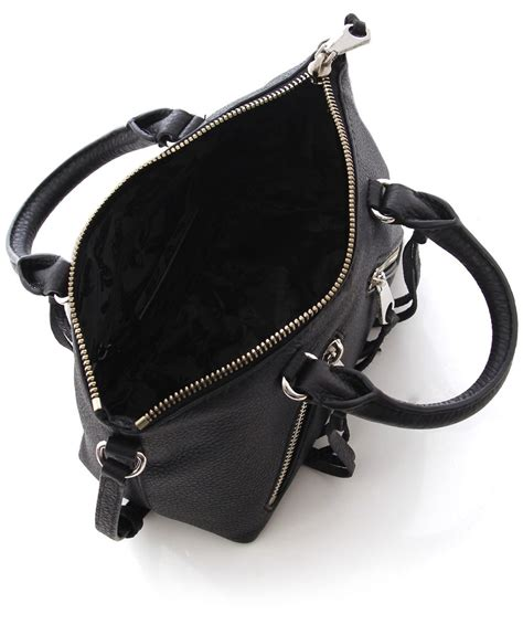 minkoff black micro moto satchel bag available at
