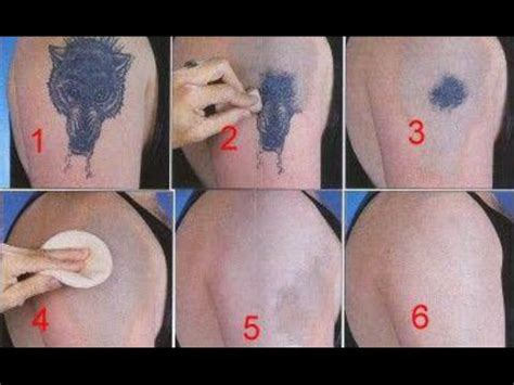 how to remove a tattoo without laser at home youtube
