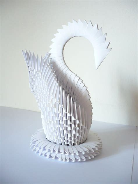 Origami Swan With Wings - origami swan by frecmenta on deviantart