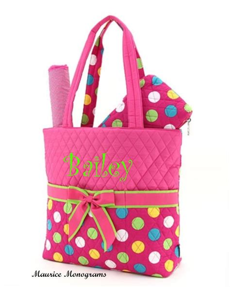 diaper bags personalized baby diaper bags for boysgirls personalized baby girl diaper bag set 3pc set hot pink polka