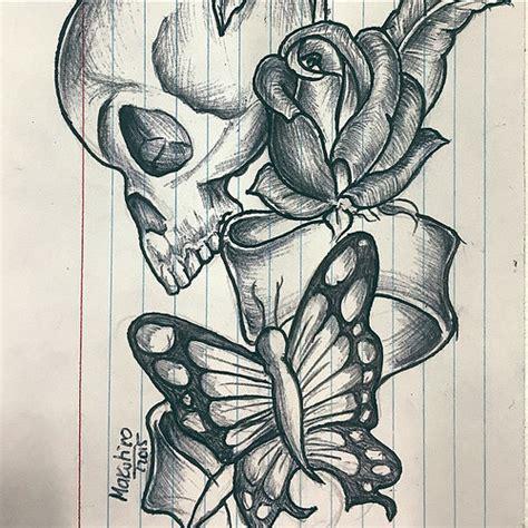skull rose butterfly tattoo skull butterfly tat skull butterfly