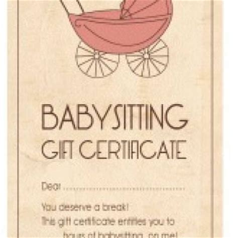 babysitting gift voucher template iou babysitting voucher new calendar template site