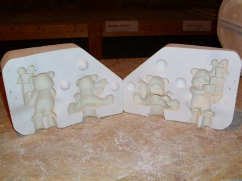 gift bear ornament christmas ceramic mold ebay
