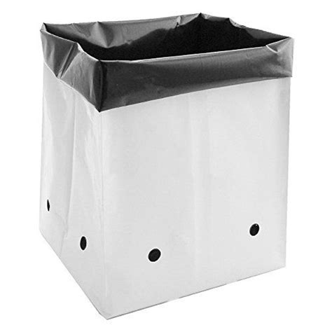Plastic Planter Bags 5 pack 5 gallon fabric grow bags container garden club