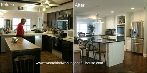 How To Redo Kitchen Cabinets by Wordless Wednesday Before After Kitchen Remodel Pictures
