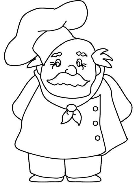 chef2 people coloring pages coloring book