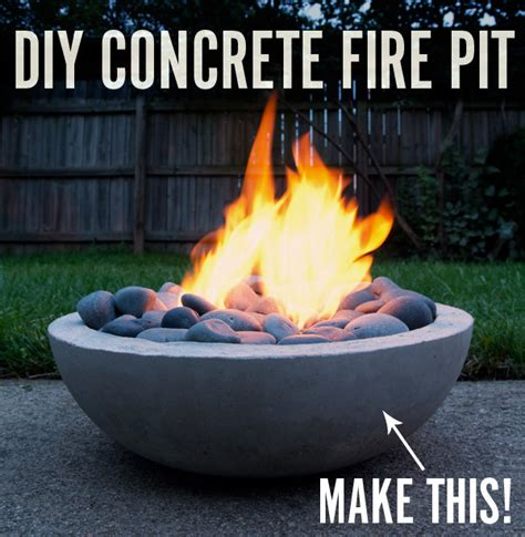 Make It: Modern DIY Concrete Fire Pit » Curbly   DIY