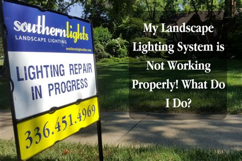 landscape lights not working my landscape lighting system is not working properly what