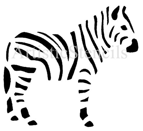 template for painting zebra stencil silhouette template animal templates