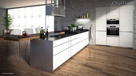 interni cucine cucina valcucine multiline render fotorealistico di interni