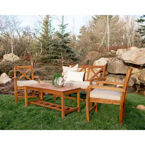Acacia Wood Outdoor Furniture by Acacia Wood Patio Furniture Chicpeastudio