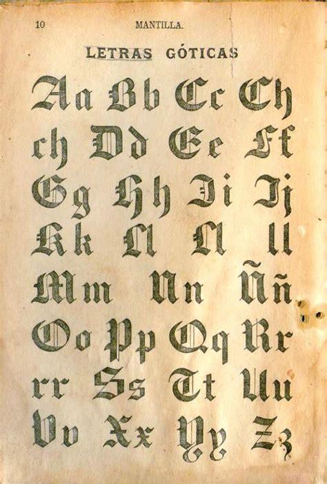 letras goticas mantilla libro de lectura no 1 letras g 243 ticas a photo