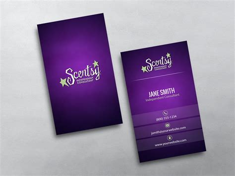 Scentsy Business Cards Free Shipping Scentsy Business Card Template
