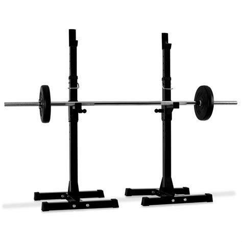 Curl Bar Rack by Klarfit Weight Lift Squat Rack Curl Bar Stand Holder