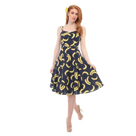 collectif vintage simona banana swing dress collectif