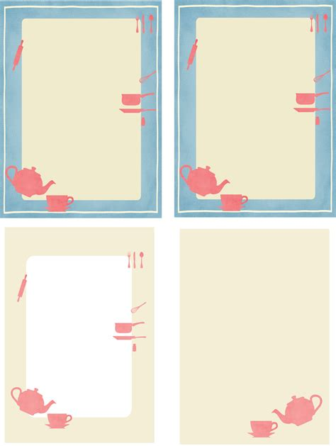 Notes From The Kitchen by Free Printable Kitchen Stationery Ausdruckbares