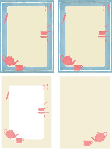 printable paper kitchen free printable kitchen stationery ausdruckbares