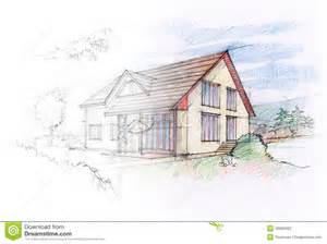Home Design Exterior App house sketch stock illustration image 49966382