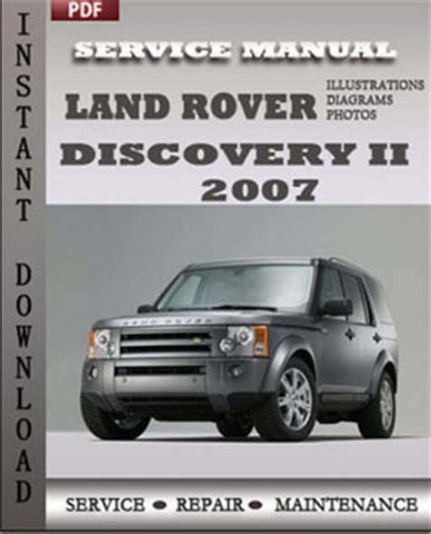 land rover discovery 2 2007 service repair manual instant download