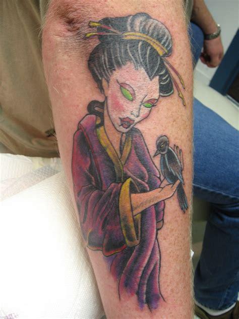 geisha tattoo cover up geisha girl cover up tattoo picture