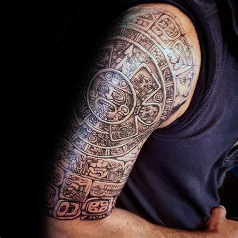 mayan tribal tattoo 80 mayan tattoos for masculine design ideas