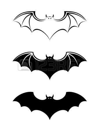 Bat Outline Vector by Outline For A Bat Clipart Clipground