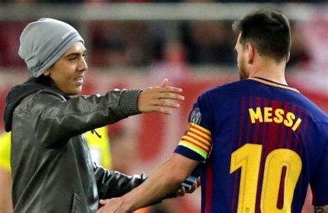 lionel messi biography in tamil uefa fines olympiakos after fans on field got to lionel