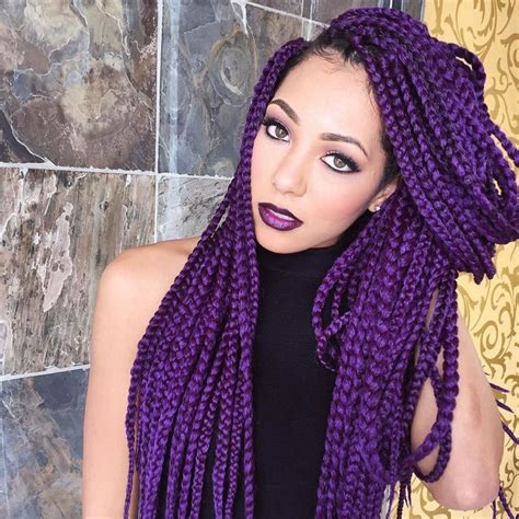 top 5 colorful box braids hairstyles 2017 blackhairlab