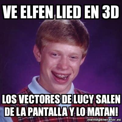 I Lied Meme Generator - meme bad luck brian ve elfen lied en 3d los vectores de