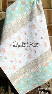 quilt kit diy project baby quilt kit bunnies littlest