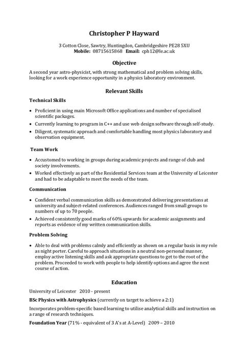 Resume Sles Communication Skills Resume Communication Skills 911 Http Topresume