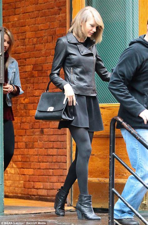 taylor swift  gorgeous  edgy leather jacket