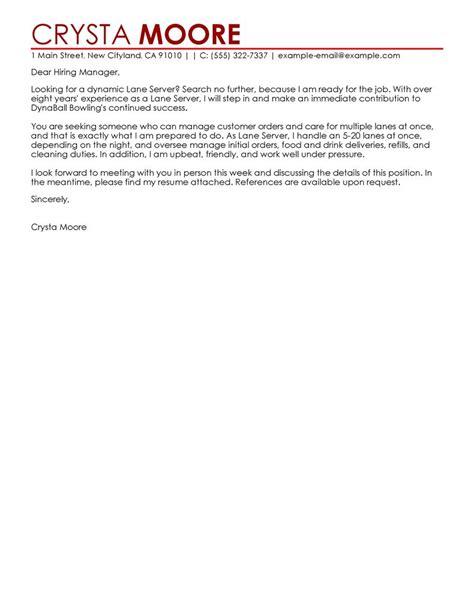 Entertainment Cover Letter by Best Server Cover Letter Exles Livecareer
