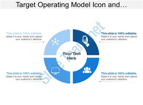 Target Operating Model Icon And Quadrants Templates Powerpoint Slides Ppt Presentation Target Operating Model Powerpoint Template